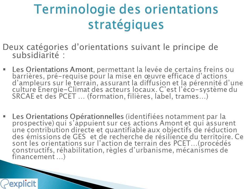 Terminologie des orientations stratégiques