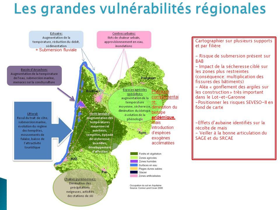 Les grandes vulnérabilités régionales