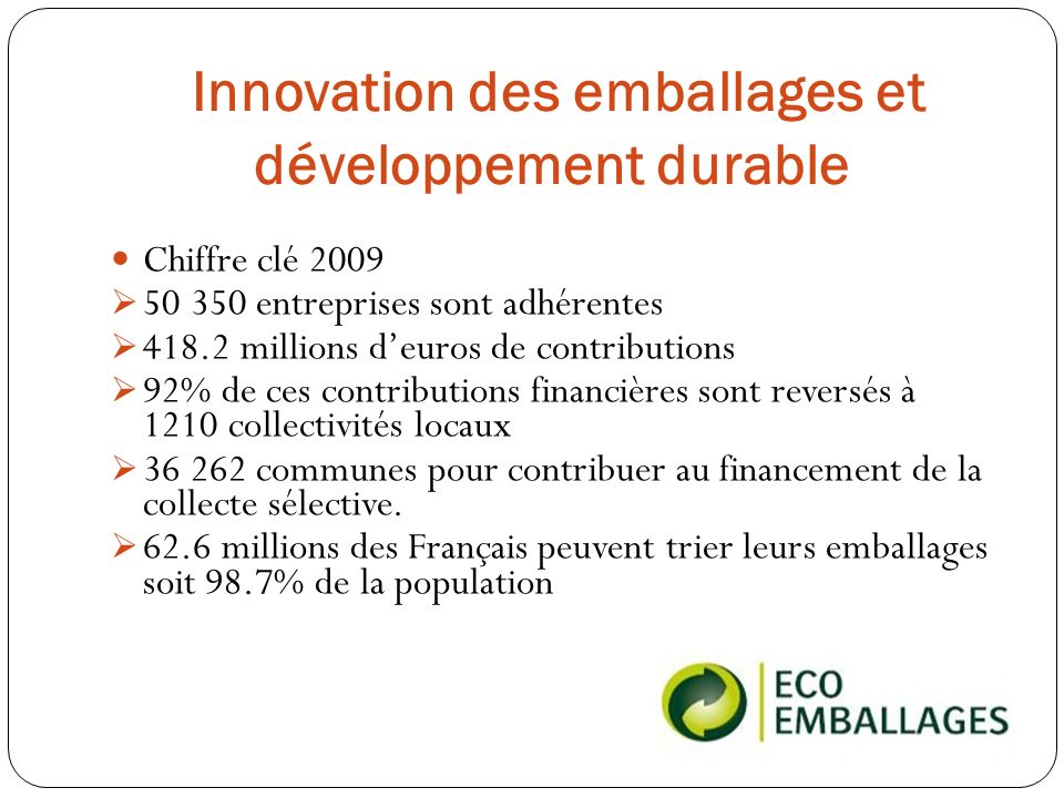 Innovation des emballages et développement durable