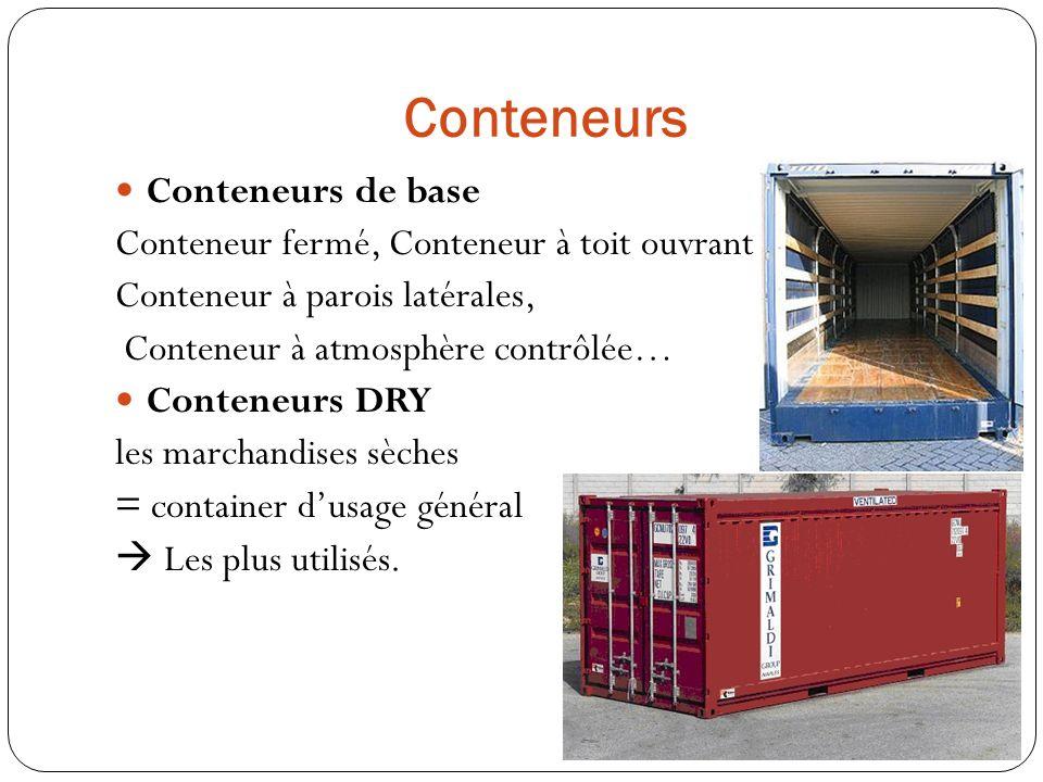 Conteneurs Conteneurs de base