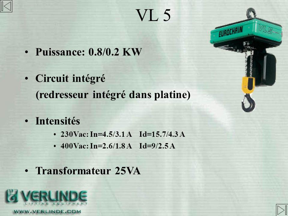 VL 5 Puissance: 0.8/0.2 KW Circuit intégré