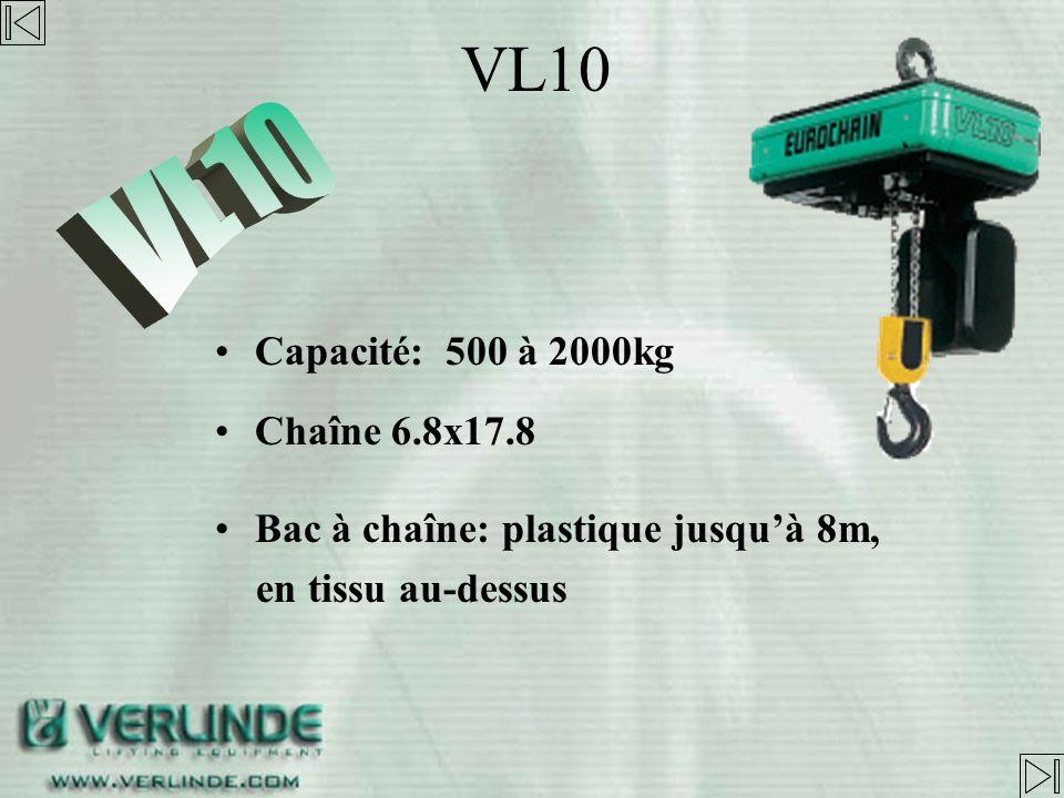VL10 VL10 Capacité: 500 à 2000kg Chaîne 6.8x17.8