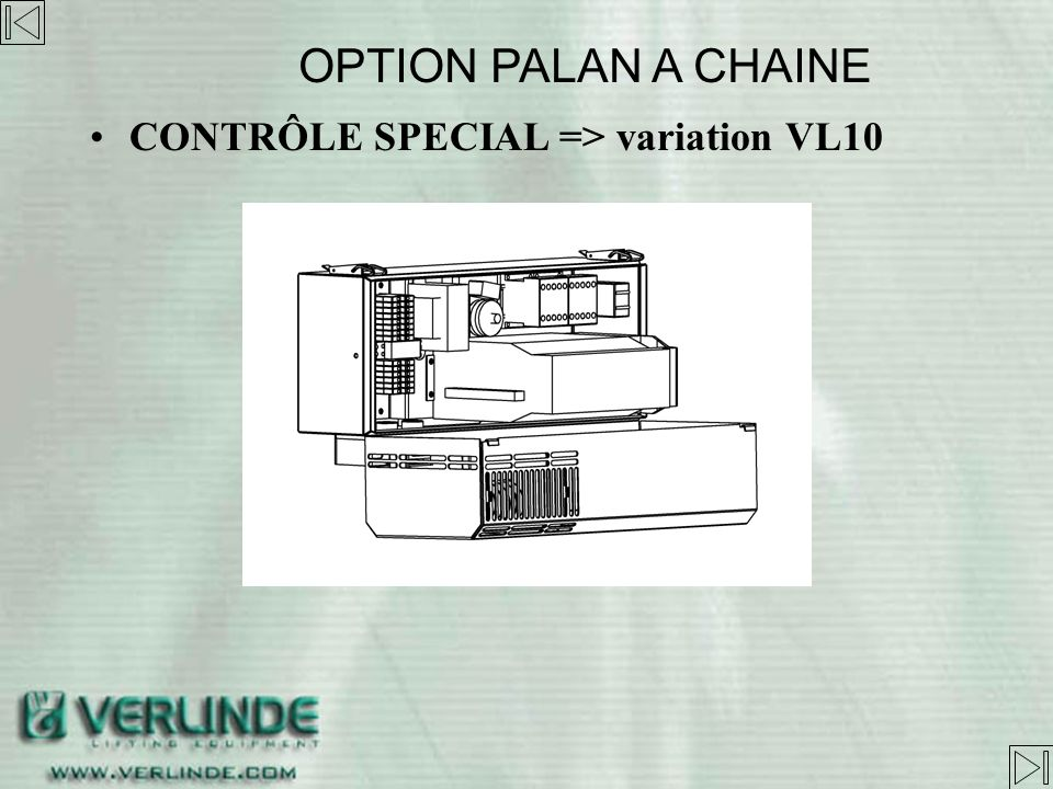 OPTION PALAN A CHAINE CONTRÔLE SPECIAL => variation VL10