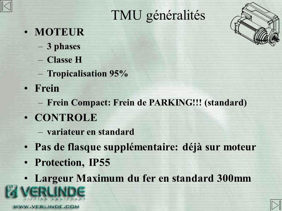 TMU généralités MOTEUR Frein CONTROLE