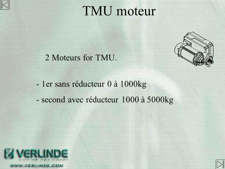 TMU moteur 2 Moteurs for TMU. - 1er sans réducteur 0 à 1000kg
