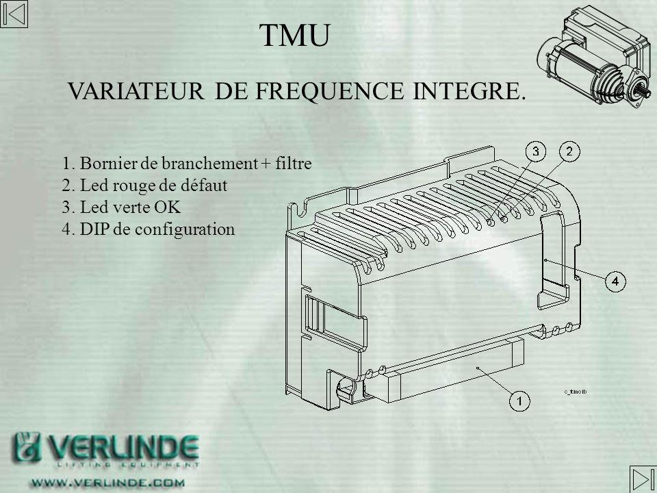 TMU VARIATEUR DE FREQUENCE INTEGRE. 1. Bornier de branchement + filtre