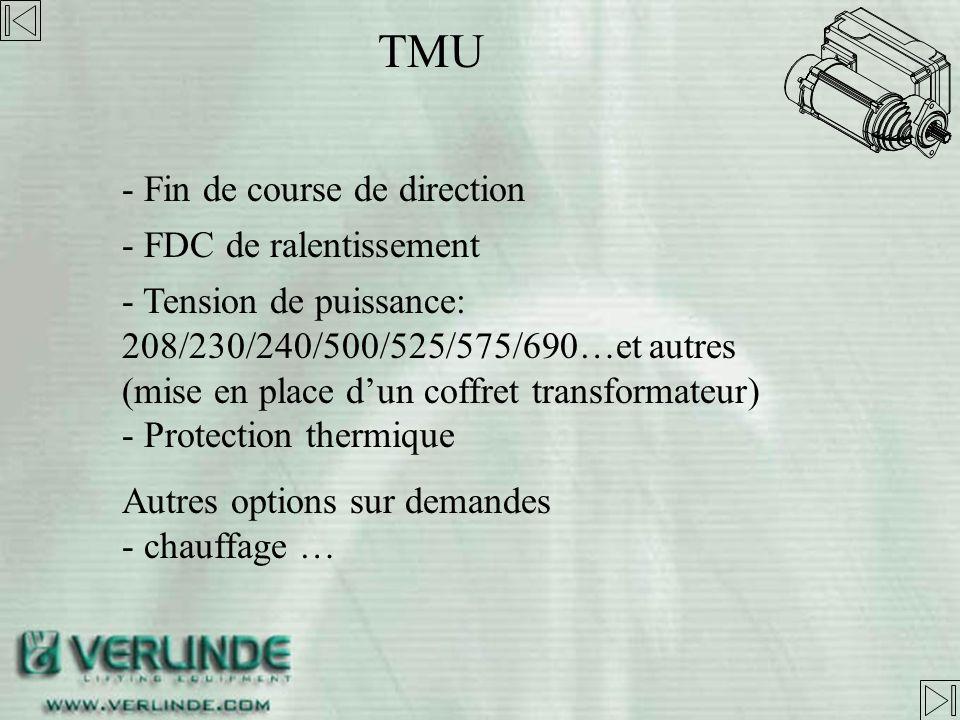 TMU - Fin de course de direction - FDC de ralentissement
