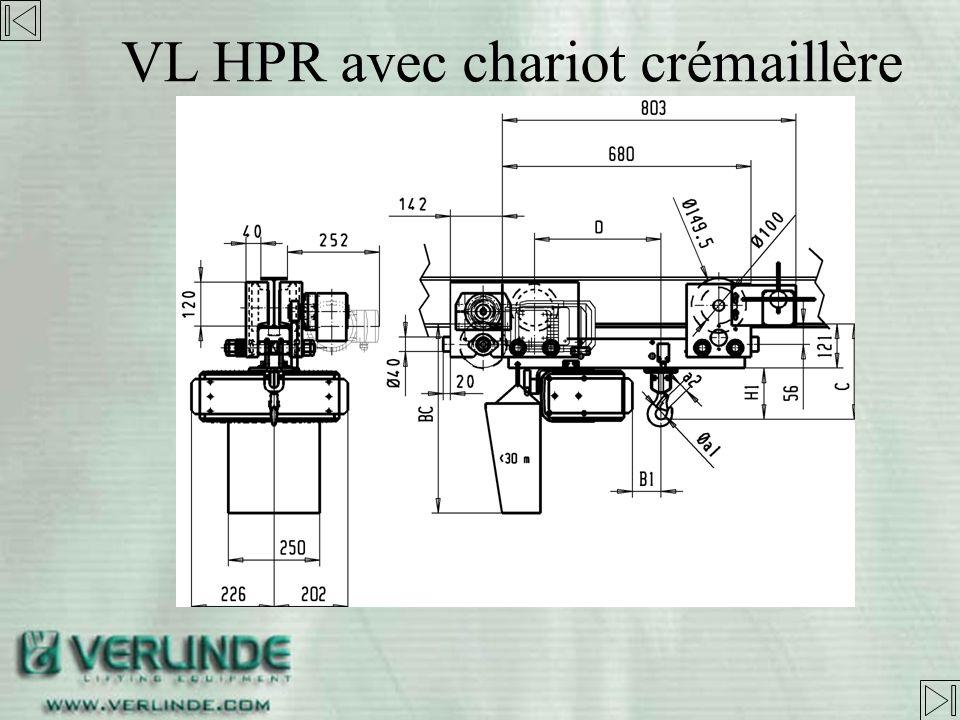 VL HPR avec chariot crémaillère