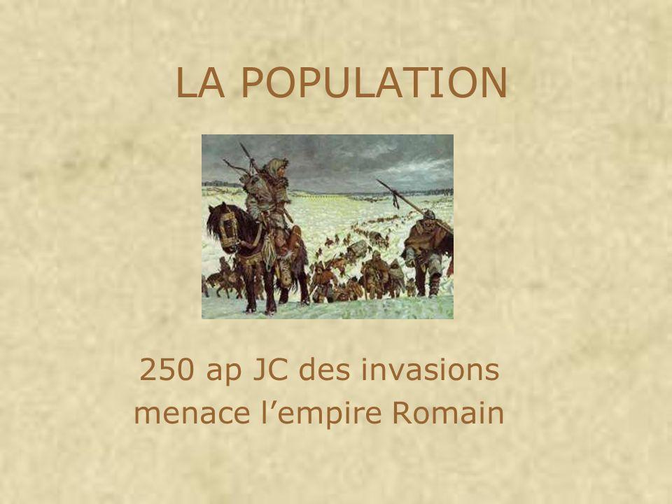 250 ap JC des invasions menace l'empire Romain