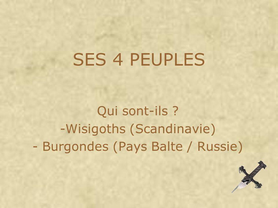 Qui sont-ils Wisigoths (Scandinavie) Burgondes (Pays Balte / Russie)
