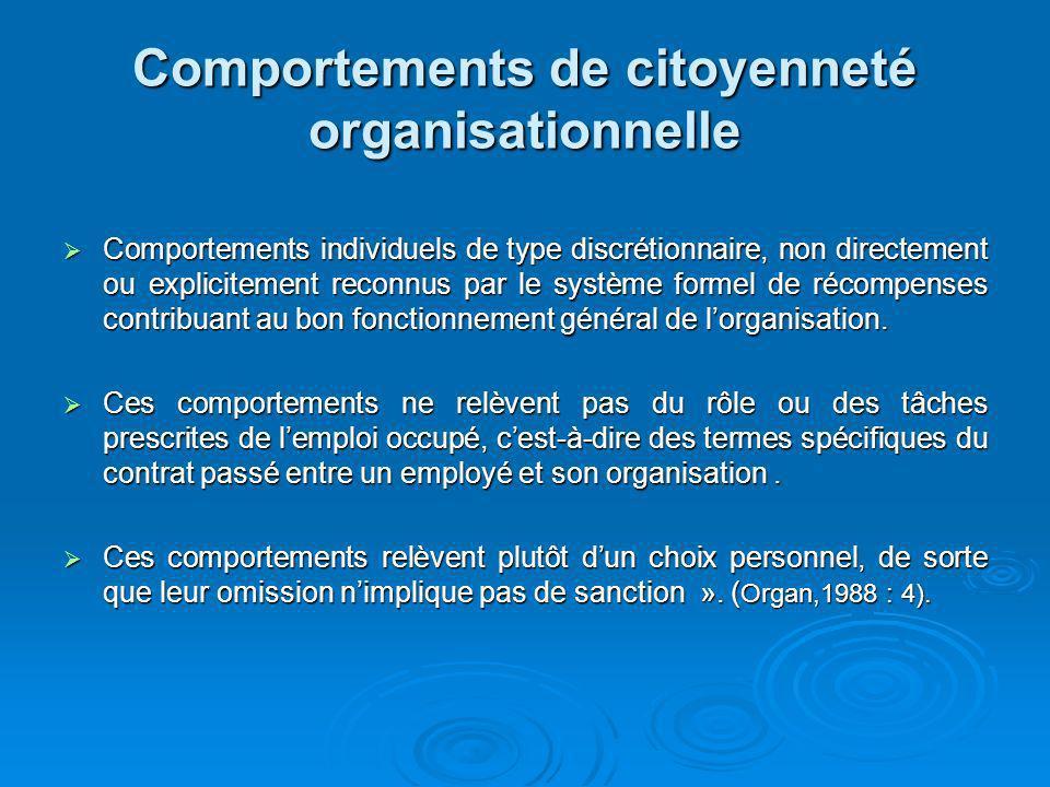 Comportements de citoyenneté organisationnelle