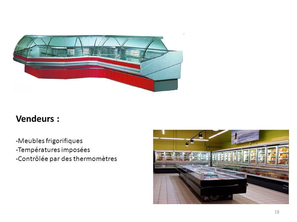 Vendeurs : Meubles frigorifiques Températures imposées