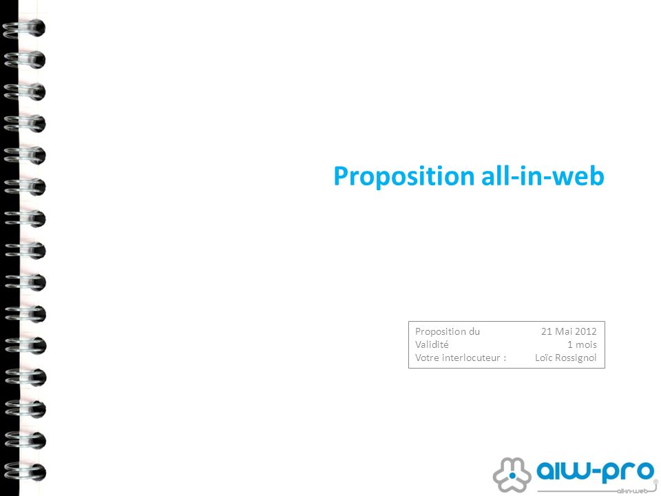 Proposition all-in-web