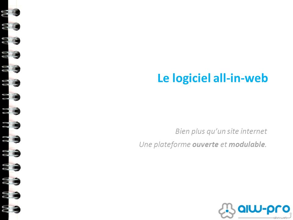 Le logiciel all-in-web