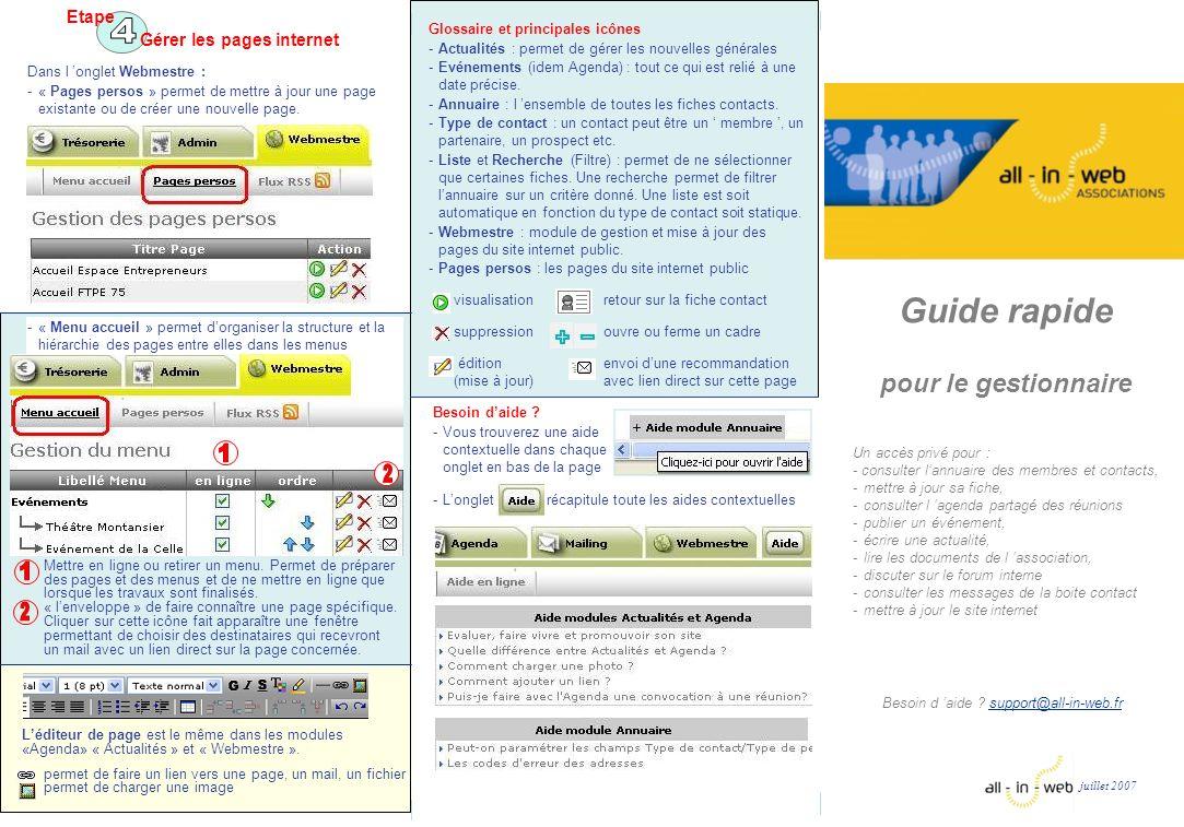 4 1 2 1 2 Guide rapide pour le gestionnaire Etape