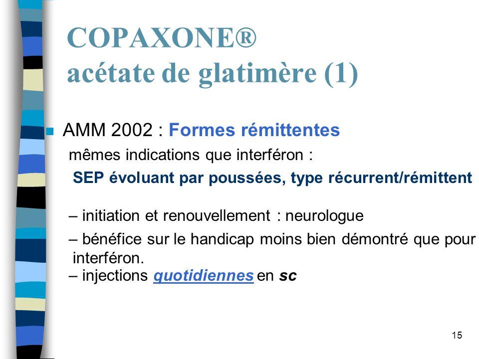 COPAXONE® acétate de glatimère (1)