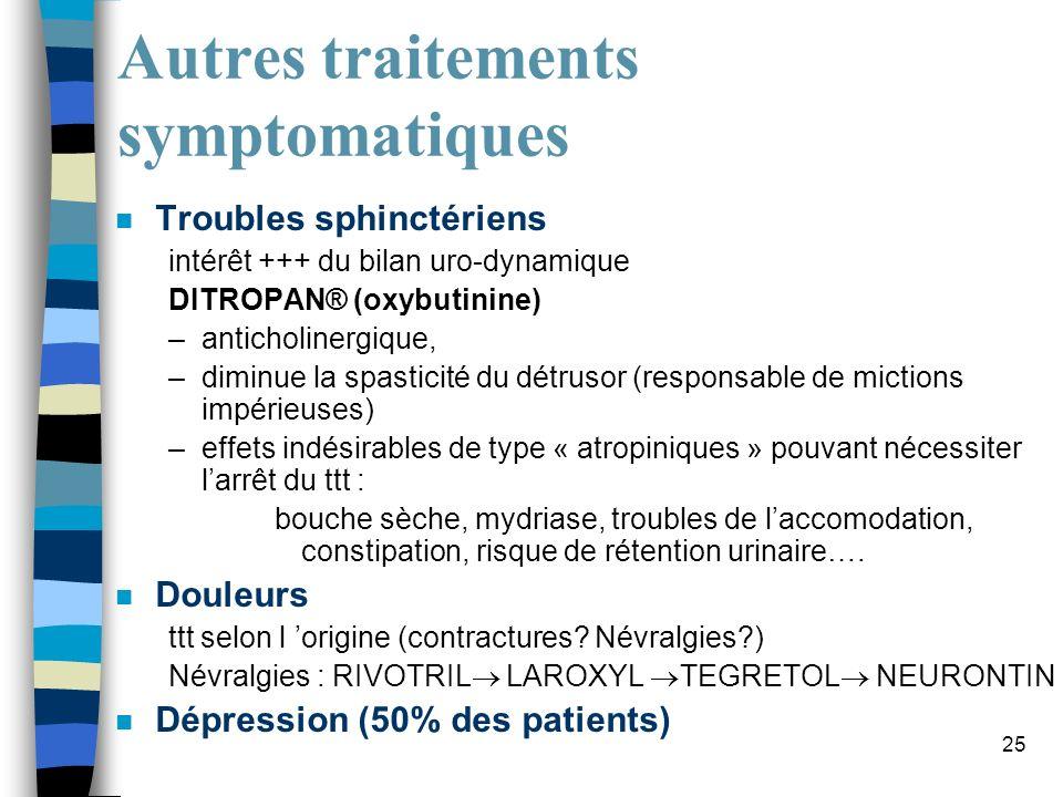 Autres traitements symptomatiques
