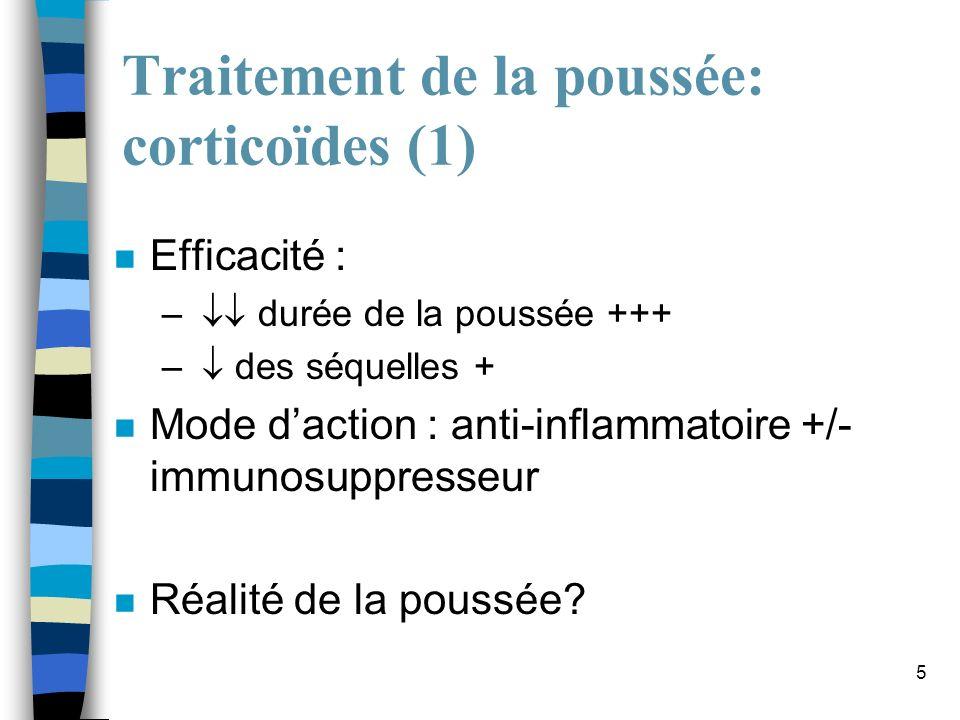 Traitement de la poussée: corticoïdes (1)