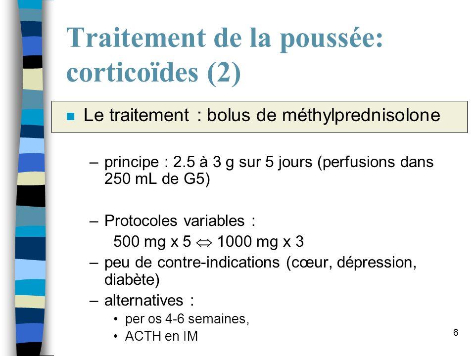 Traitement de la poussée: corticoïdes (2)