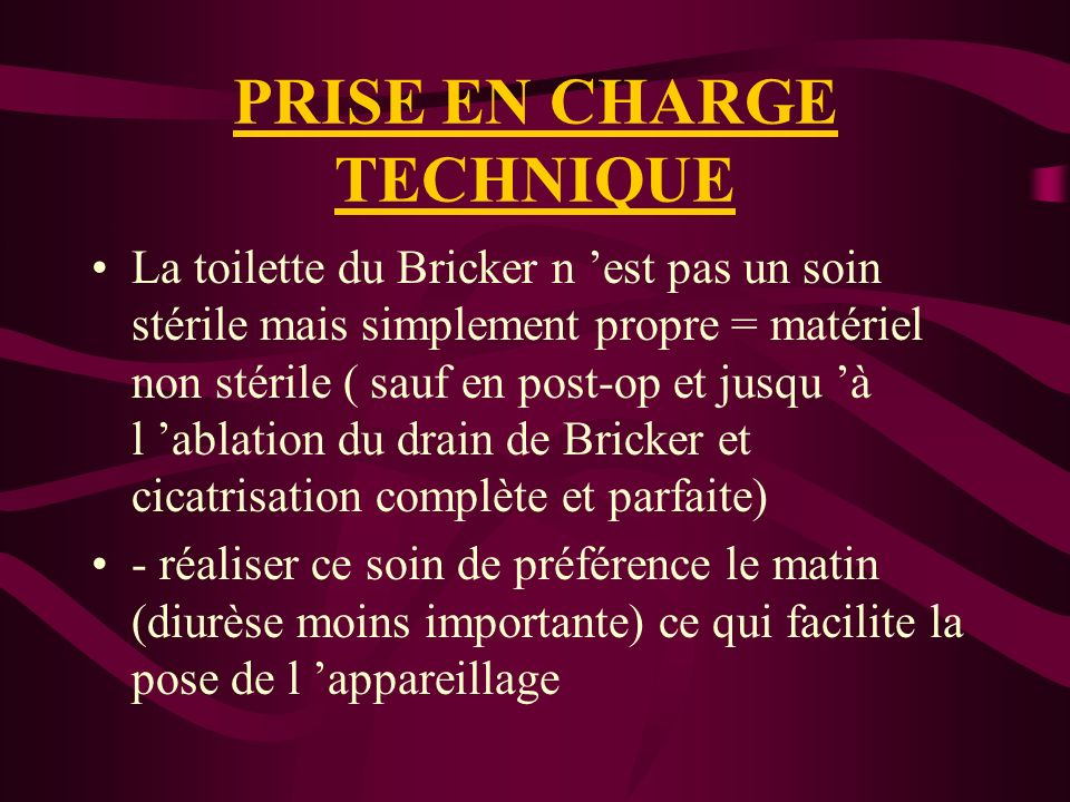 PRISE EN CHARGE TECHNIQUE