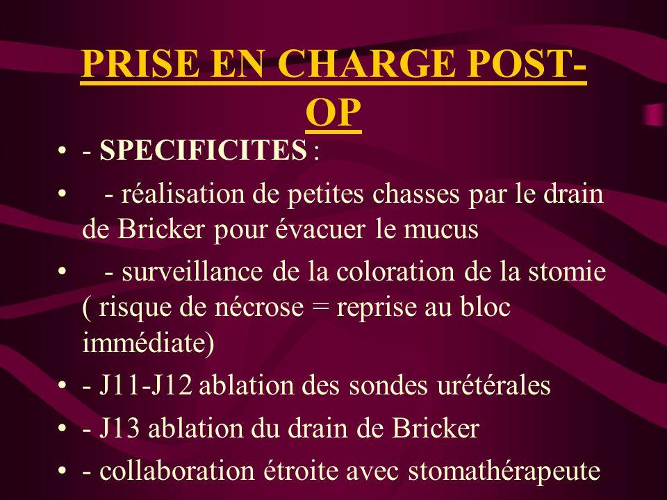 PRISE EN CHARGE POST-OP