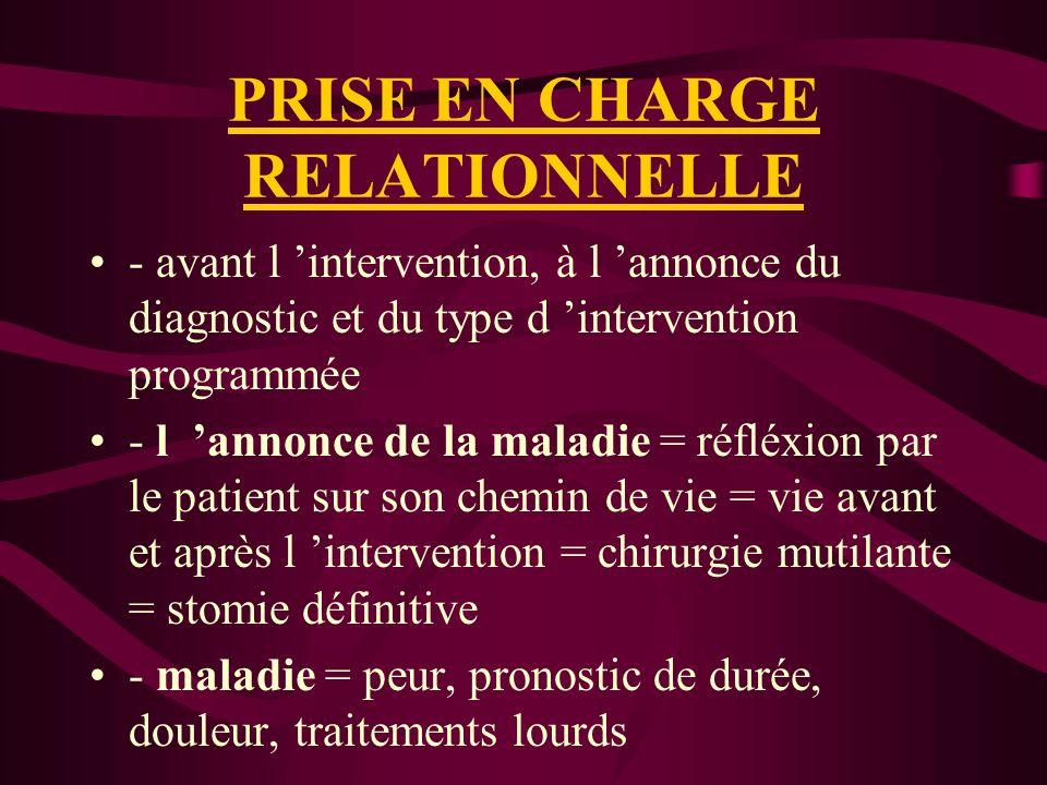PRISE EN CHARGE RELATIONNELLE