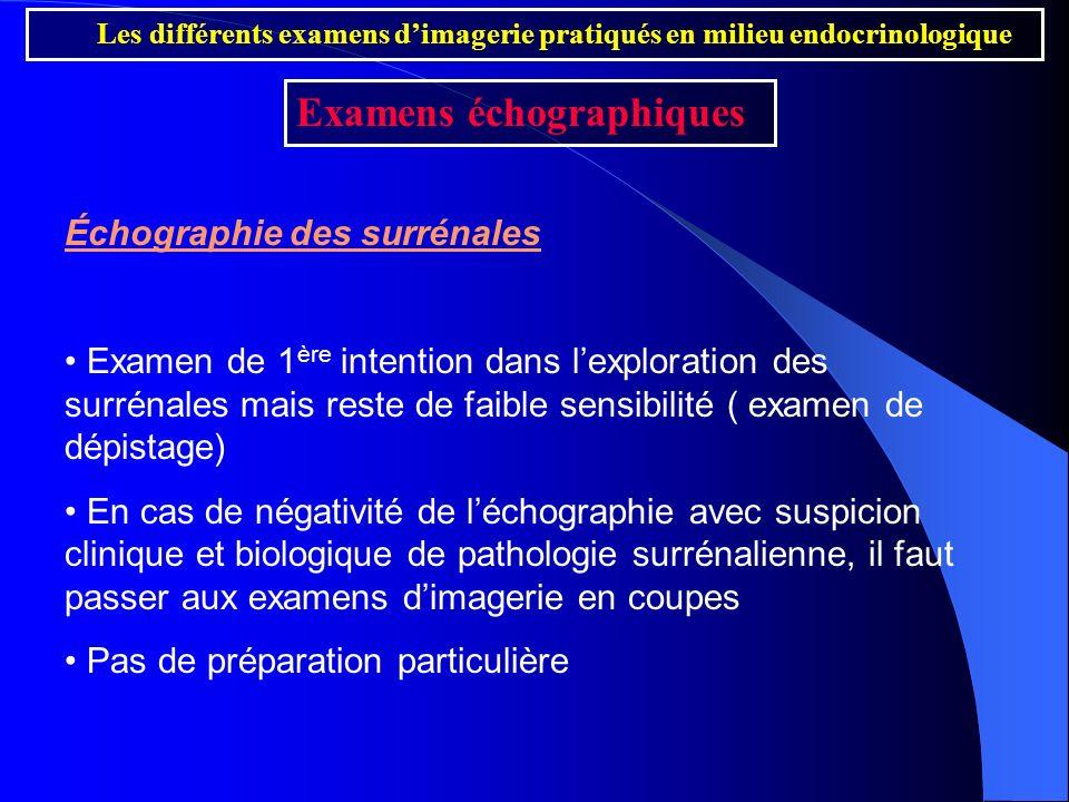 Examens échographiques
