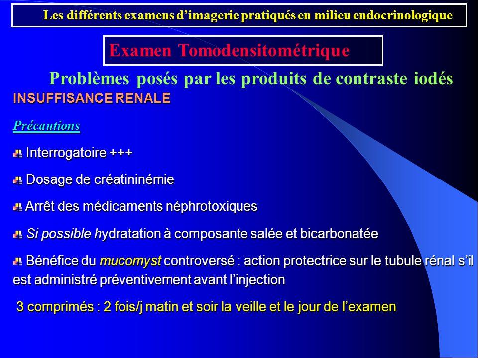 Problèmes posés par les produits de contraste iodés