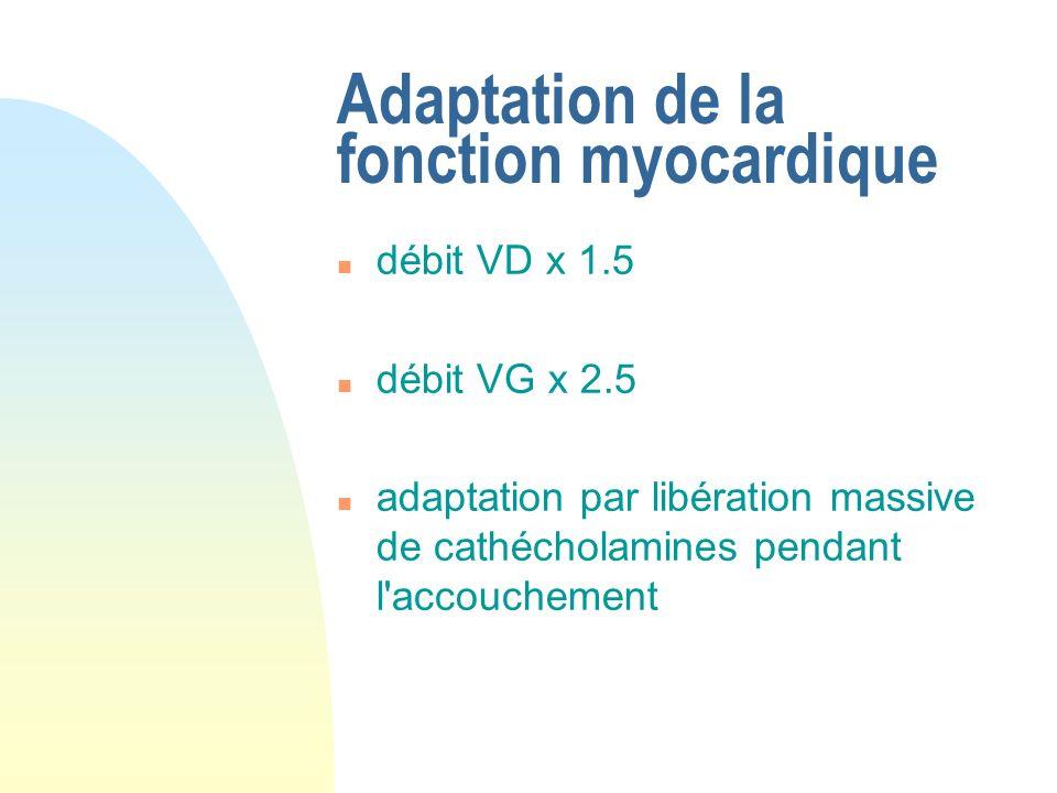 Adaptation de la fonction myocardique