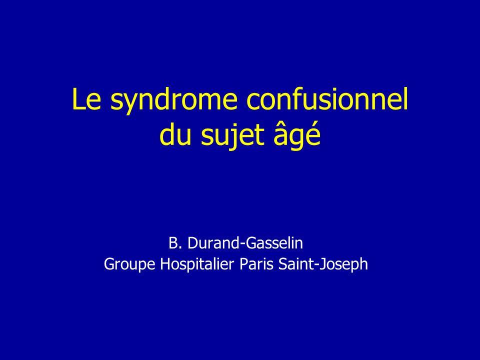 Le syndrome confusionnel du sujet âgé