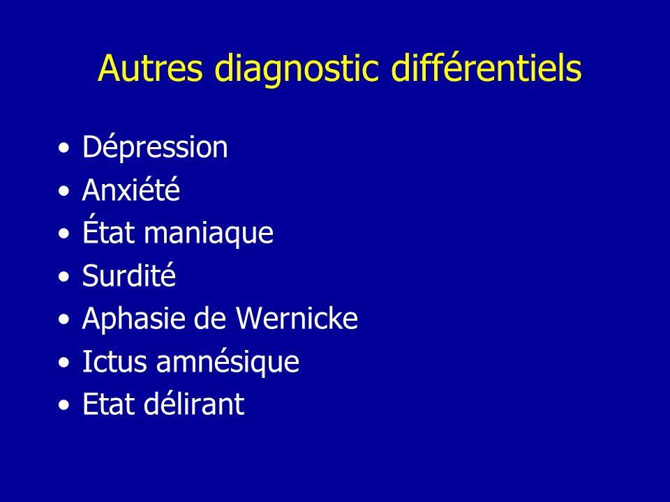 Autres diagnostic différentiels