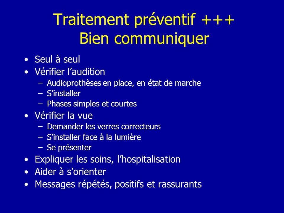 Traitement préventif +++ Bien communiquer