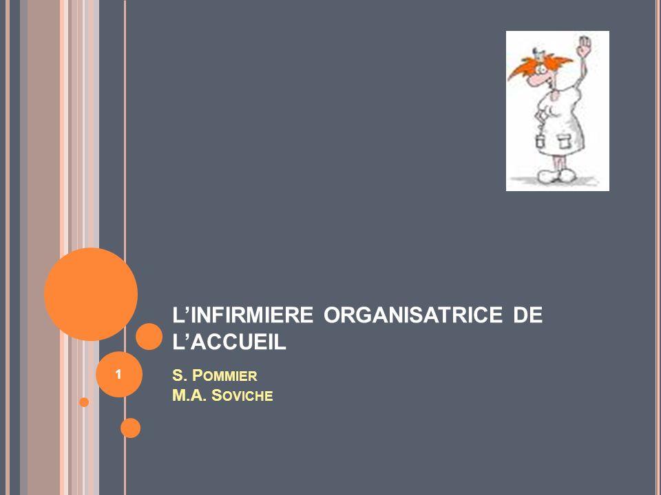 L'INFIRMIERE ORGANISATRICE DE L'ACCUEIL