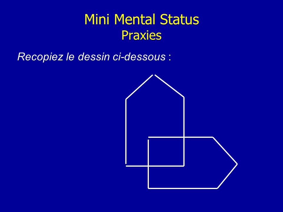 Mini Mental Status Praxies