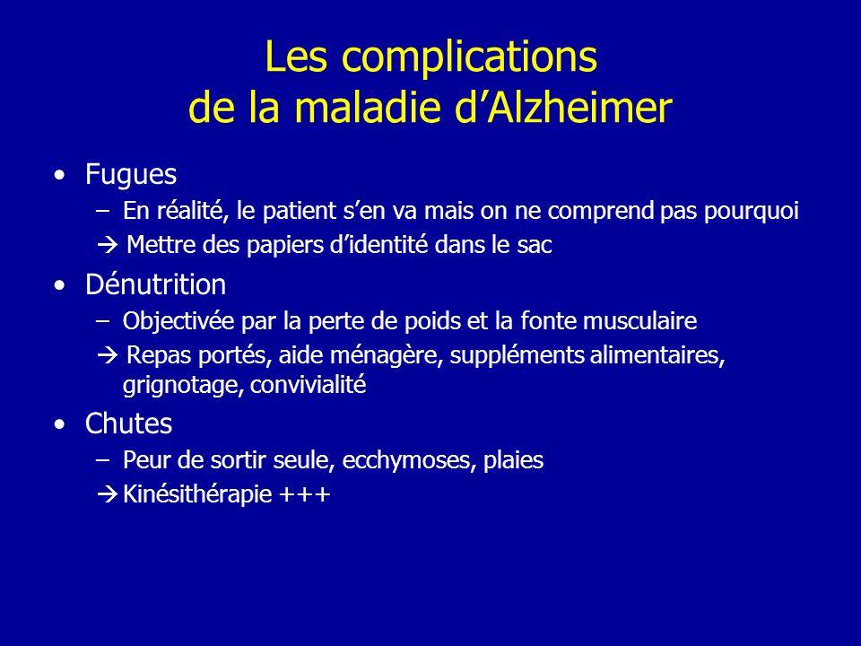 Les complications de la maladie d'Alzheimer