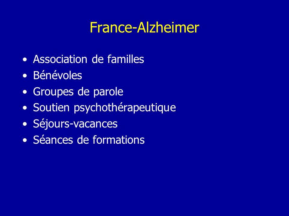 France-Alzheimer Association de familles Bénévoles Groupes de parole