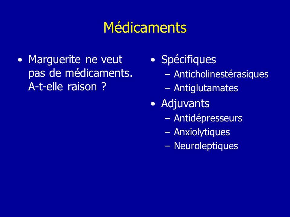 Médicaments Marguerite ne veut pas de médicaments. A-t-elle raison