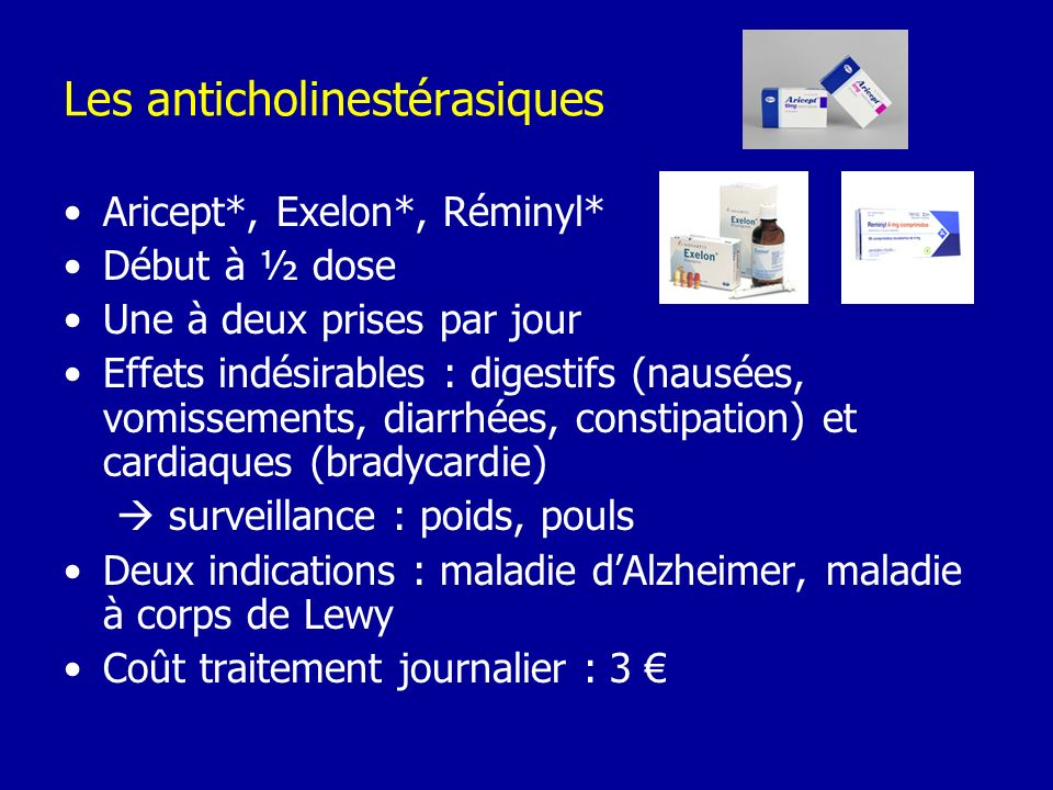 Les anticholinestérasiques
