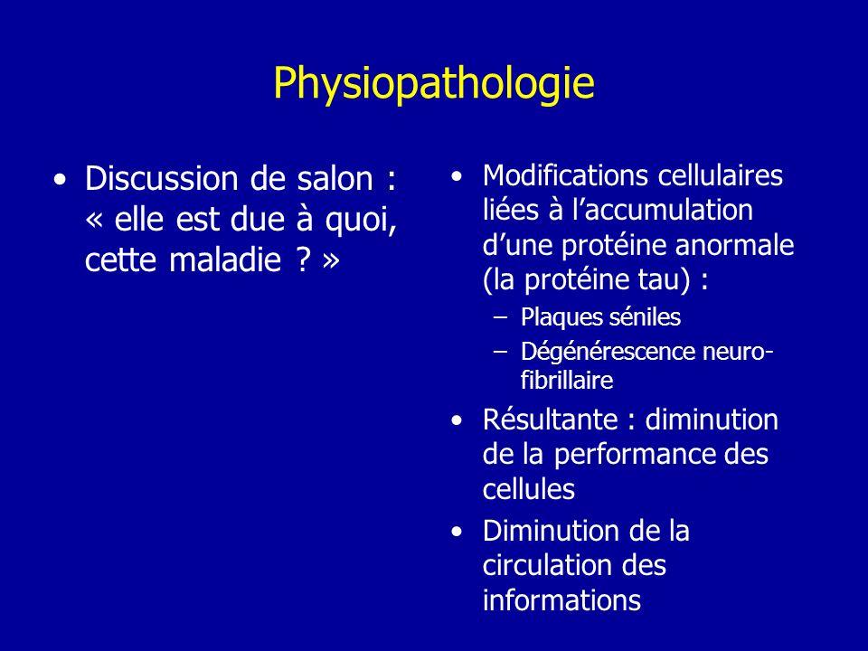 Physiopathologie Discussion de salon : « elle est due à quoi, cette maladie »