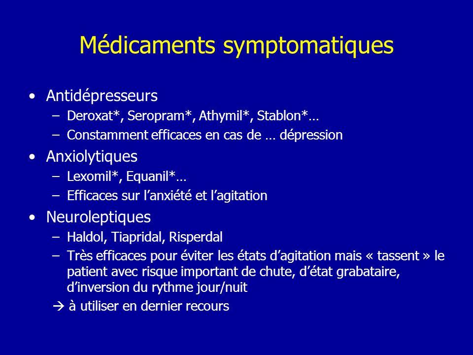 Médicaments symptomatiques