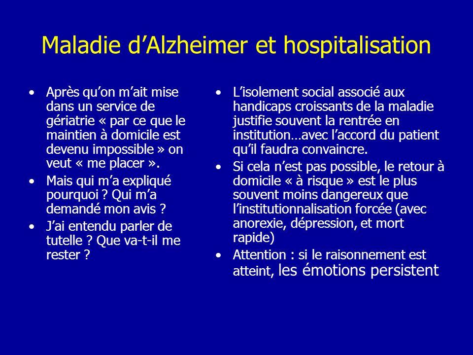 Maladie d'Alzheimer et hospitalisation
