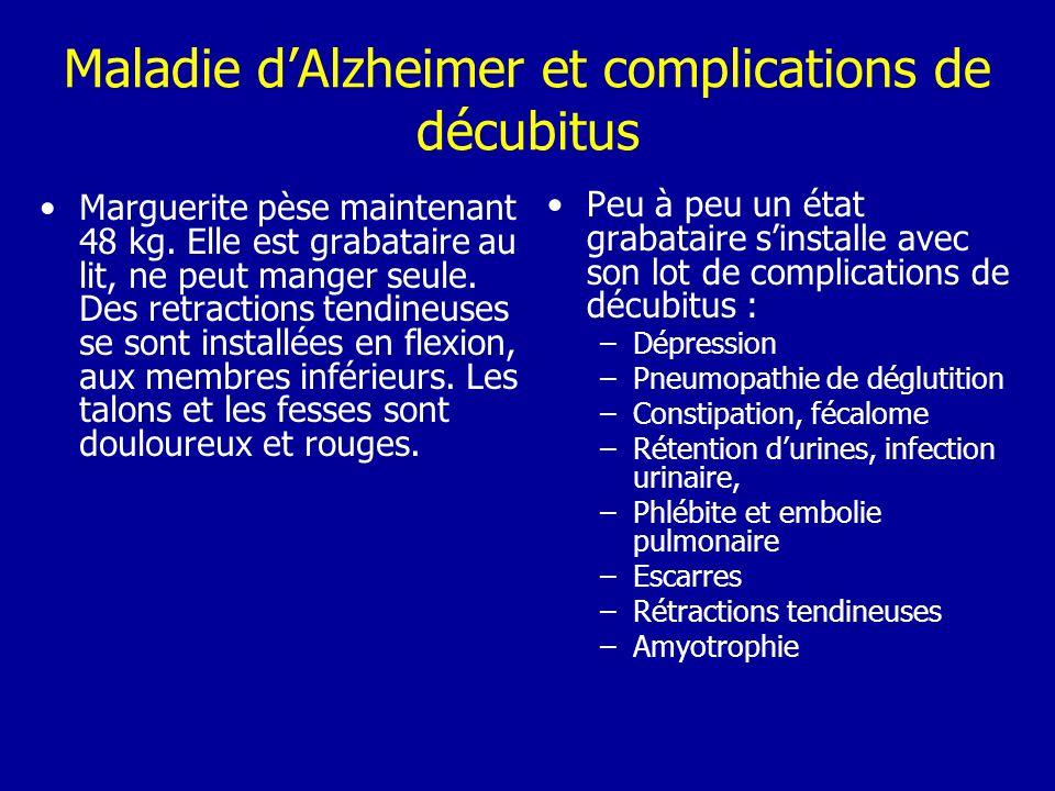 Maladie d'Alzheimer et complications de décubitus