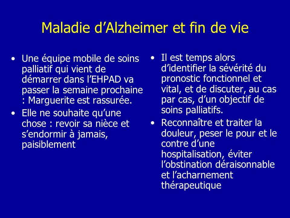 Maladie d'Alzheimer et fin de vie
