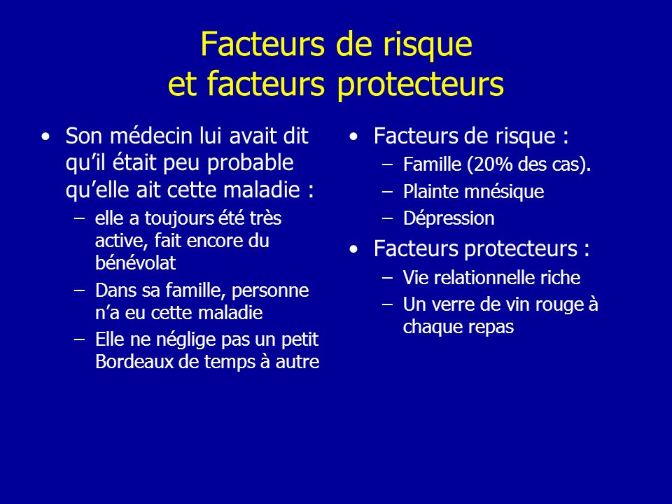 Facteurs de risque et facteurs protecteurs