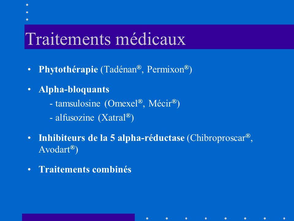 Traitements médicaux Phytothérapie (Tadénan®, Permixon®)