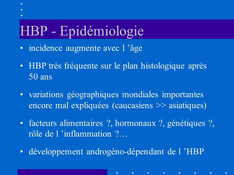 HBP - Epidémiologie incidence augmente avec l 'âge