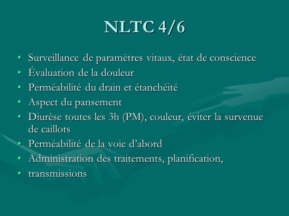NLTC 4/6 Surveillance de paramètres vitaux, état de conscience
