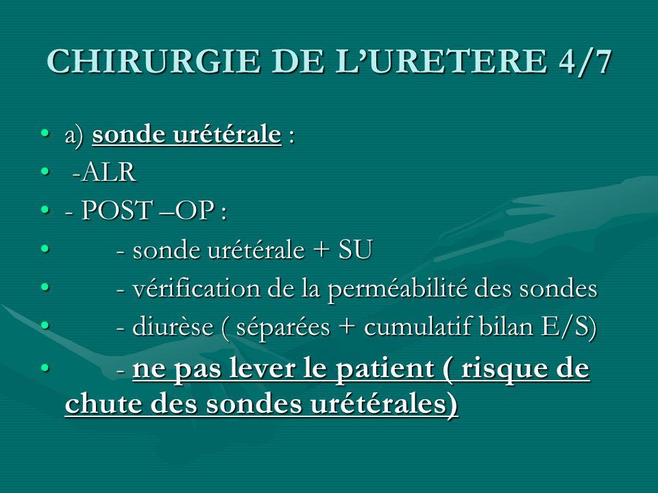 CHIRURGIE DE L'URETERE 4/7