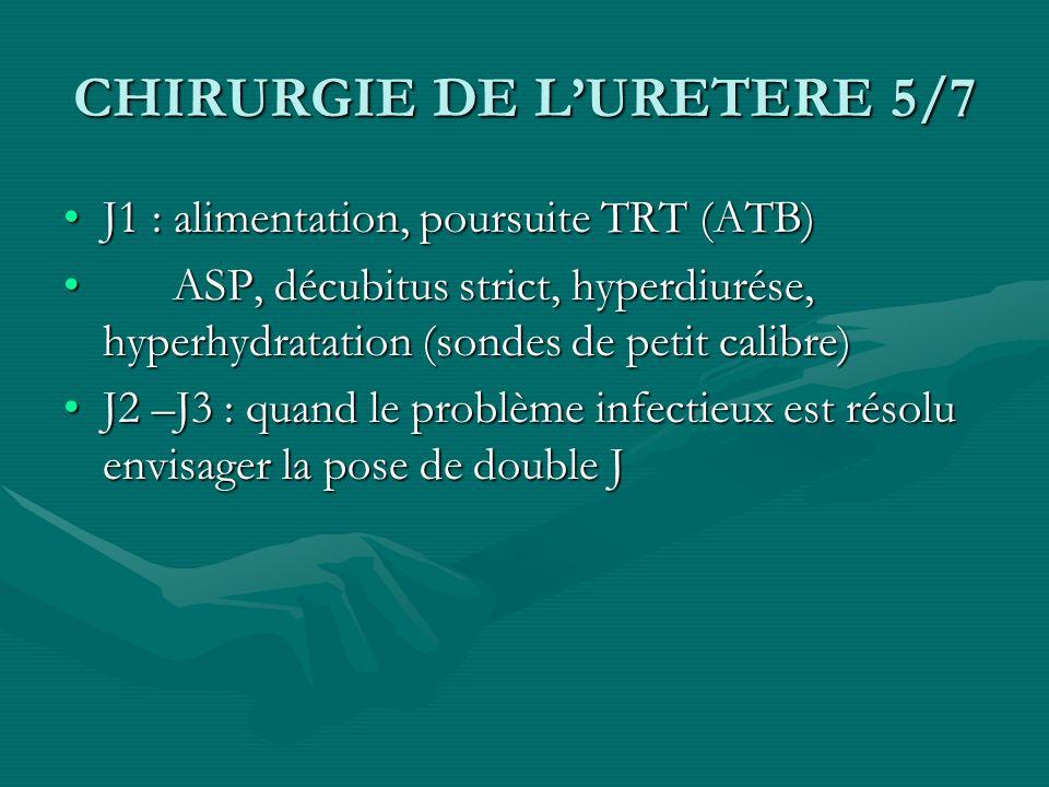 CHIRURGIE DE L'URETERE 5/7
