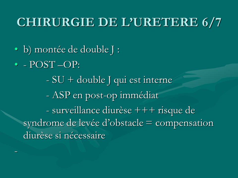 CHIRURGIE DE L'URETERE 6/7